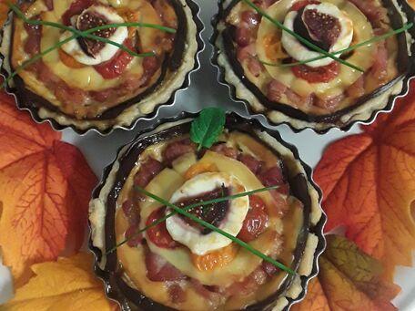 RECIPE MAIN IMAGE Tartelettes aux aubergines