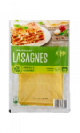 Feuilles de lasagnes Carrefour