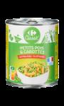Petits pois et carottes extra-fins Carrefour...