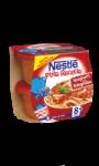 Plat bébé 8+ mois spaghetti Bolognaise Nestlé