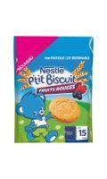 Biscuits bébé dès 15 mois fruits rouges Nestlé