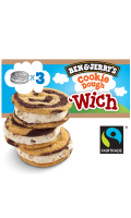 Ben & Jerry's Glace Wich Cookie Dough x3 240ml