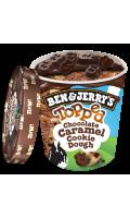 Ben & Jerry's Pot Glace Topped Chocolate Caramel Cookie Dough 470ml