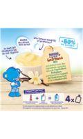 Dessert bébé dés 6 mois vanille Bio P'tit Gourmand