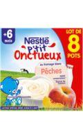 Dessert bébé dés 6 mois au Fromage Blanc Pêches P'tit Onctueux