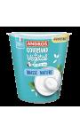 Yaourt végétal au lait de coco brassé nature Andros