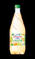 Eau gazeuse au jus de fruit orange citron vert Cristaline