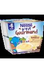 P'tit gourmand dessert lacté vanille dès 6 mois Nestlé