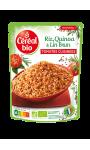 Riz Quinoa Lin Brun Tomates Cuisinées Céréal Bio