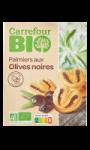 Biscuits salés palmiers aux olives noires...